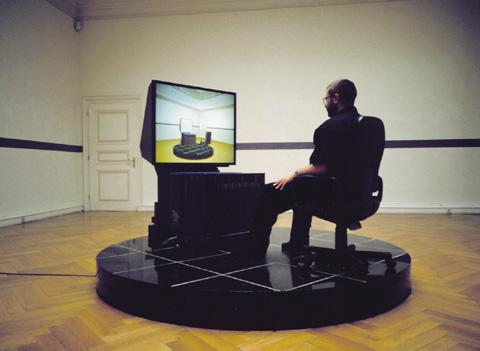 Jeffrey Shaw «The Virtual Museum» | Installation view: Ars Electronica, Brucknerhaus, Linz 1992